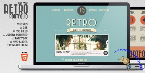 ThemeForest - Retro Portfolio - One Page Vintage Template - Rip