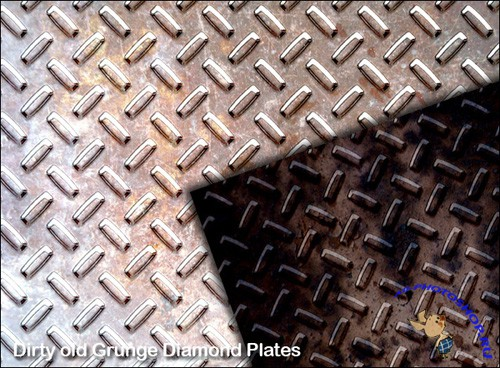 Grunge Diamond Plate for Photoshop