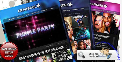 ActiveDen - Nightstar Premium Facebook Fanpage Template (Fixed Incl FLA) - Rip