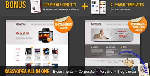 ThemeForest - Kassyopea All In One: Ecommerce + Corporate v1.5 - FULL