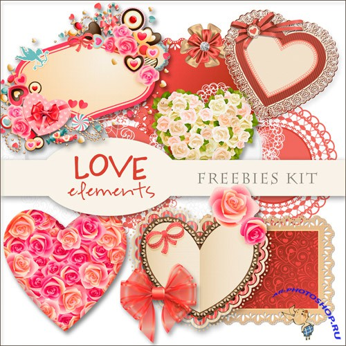 Scrap-kit - Love Elements