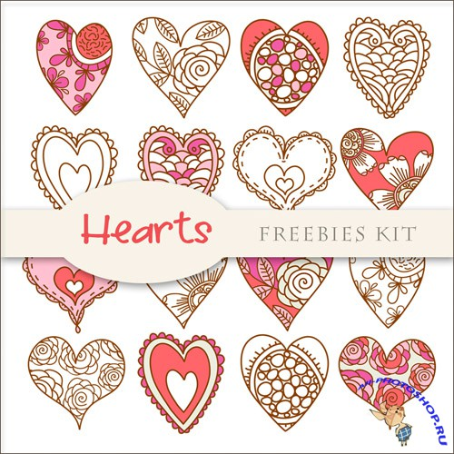 Scrap-kit - Hearts Cliparts #4