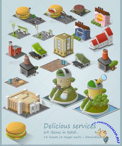 GraphicRiver - Stylised Building Icon Pack (64 items) - Part 3 (REUPLOAD)