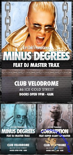 Minus Degrees Ice Cold Flyer Template (REUPLOAD)