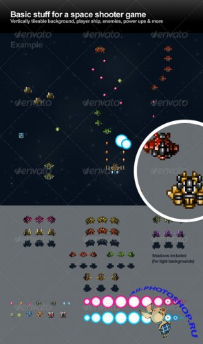 GraphicRiver - Space Shooter Objects (REUPLOAD)
