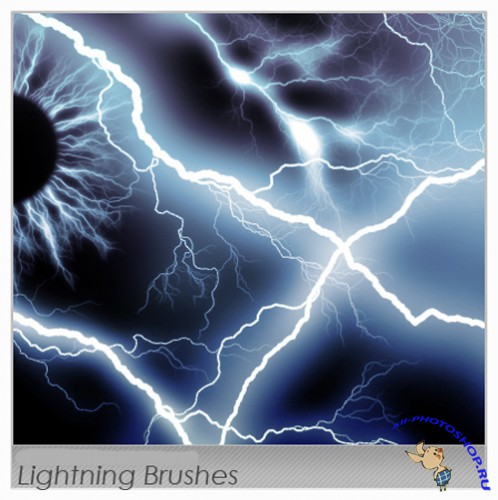 Lightning Brushes for Photoshop