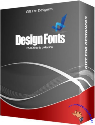 Gift For Designers - 65000 Design Fonts Collection