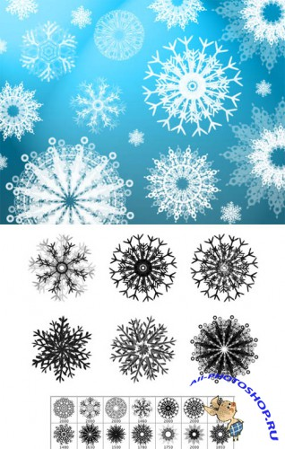 Snowflakes PS Brushes