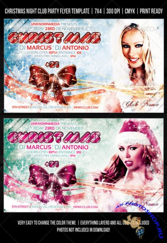 GraphicRiver - Christmas Night Club Party / Concert Flyer V2