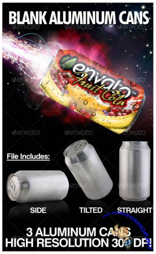 GraphicRiver - Blank Aluminum Soda Cans