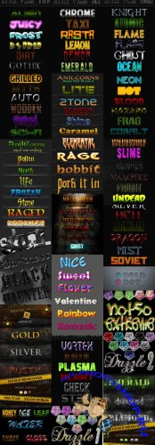 Cool Text layer styles for Photoshop pack 19