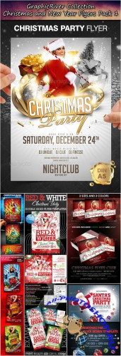 GraphicRiver - Christmas and New Year Flyers Collection Pack 1