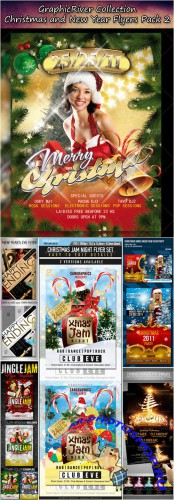 GraphicRiver - Christmas and New Year Flyers Collection Pack 2