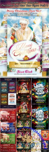 GraphicRiver - Christmas and New Year Flyers Collection Pack 3