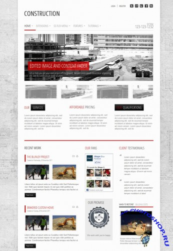 Shape5 - Construction - January 2012 Joomla Club Template - J1.5 & J1.7