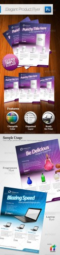 Graphicriver - Elegant Product Flyer - A4 135058