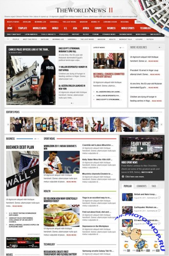 Gavick - The World News II v1.0.4j For Joomla 1.5 - Retail