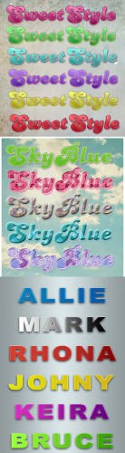 Cool Text styles for Photoshop pack 28