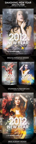 Smashing New Year 2012 Flyer PSD Template