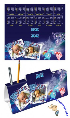 Calendar 2012 with a Pen Stand PSD Template Pack 1