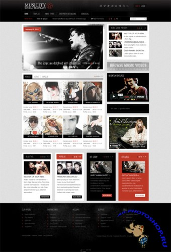 Gavick - Musicity v2.5j - Template For Joomla 1.7 - Retail