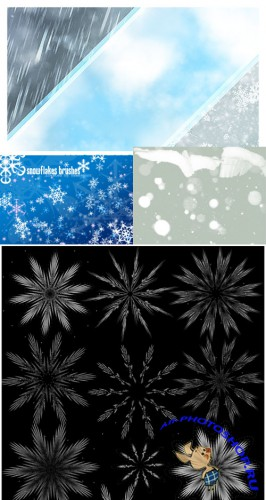 Collection of snow brushes pack 3 for Photoshop