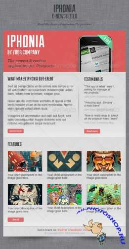 GraphicRiver - iPhonia Email Newsletter Template 523898