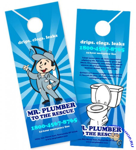 BoxedArt - Mr. Plumber A 4.25 x 11 - Templates for Design