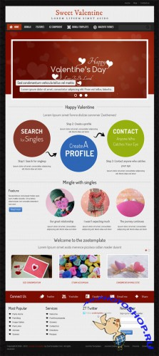 ZooTemplate - Valentine - Joomla Dating Template For J1.7