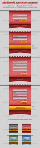 GraphicRiver - Hanging Medieval Login/Signup Panel! 89336