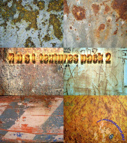 Rust textures pack 2 for Photoshop