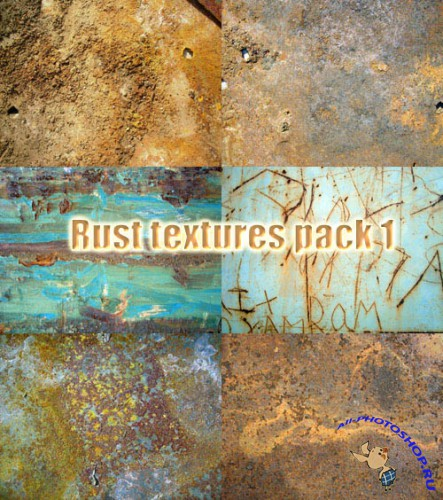 Rust textures pack 1 for Photoshop