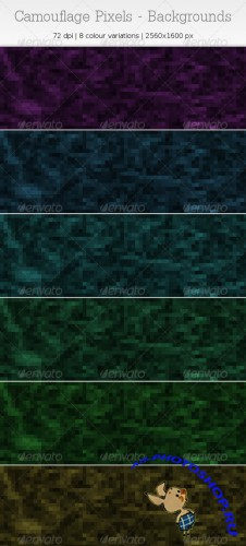 GraphicRiver - Camouflage Pixels - Backgrounds 1118429