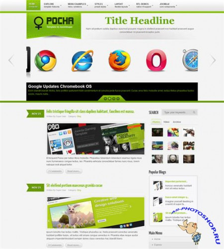 JoomShaper - Shaper Pocha - Multipurpose Joomla Template for J1.5