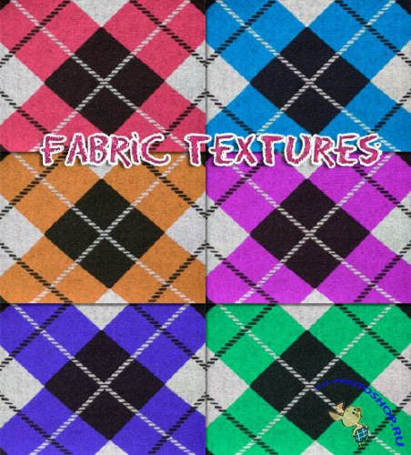Diamond Fabric Textures with 6 colors for Photoshop