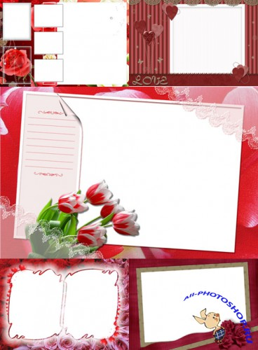 New Collection of Photo frames for Valentine's Day pack 6