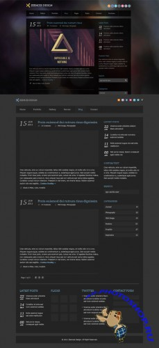 Zeences Free Blog PSD Template