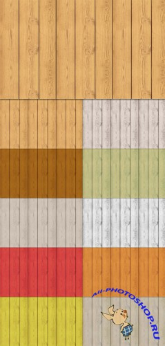 Tileable Wood Texture with 10 Colors