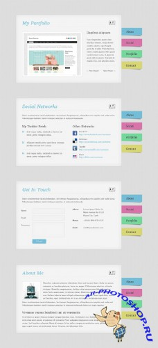 Free vCard Template PSD Template