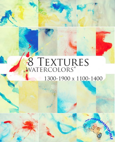 New 8 Watercolors Textures for Photoshop