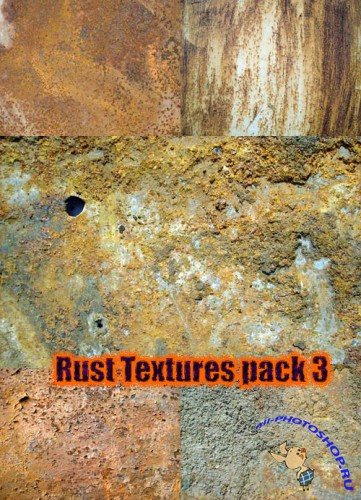New Rust Textures pack 3 for Photoshop