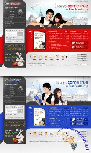 ASA Korean education website template