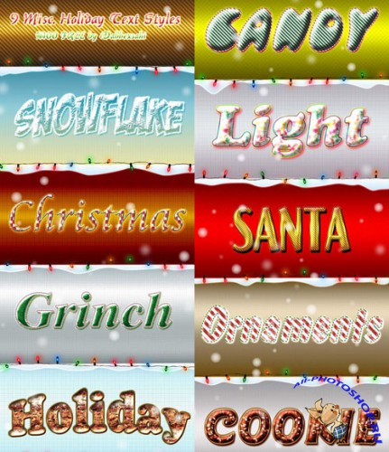 Cool Photoshop Christmas layer style