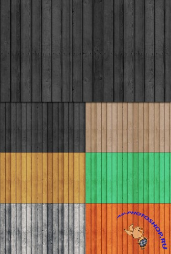 Tileable Wood Texture with 7 Colors