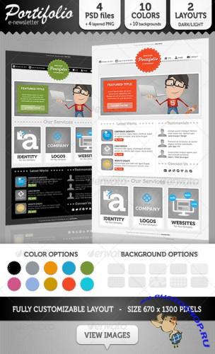 GraphicRiver - Portifolio E-Newsletter Template 740752