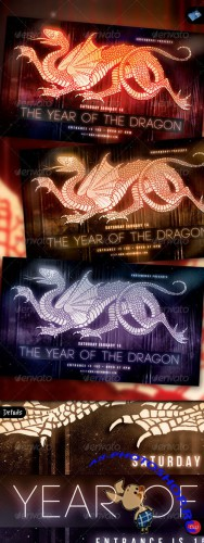 GraphicRiver - The Year of the Dragon Vol.1 - Modern 1086995