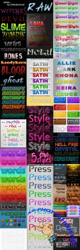 New Text styles for Photoshop pack 41