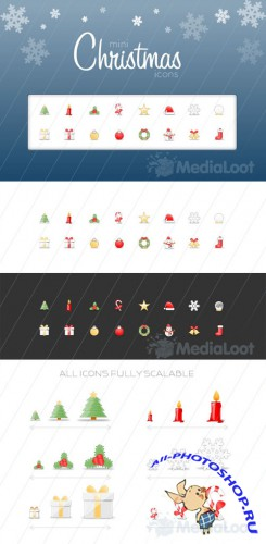 MediaLoot - Mini Christmas Icons
