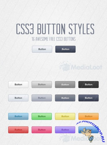 MediaLoot - Free CSS3 Button Styles