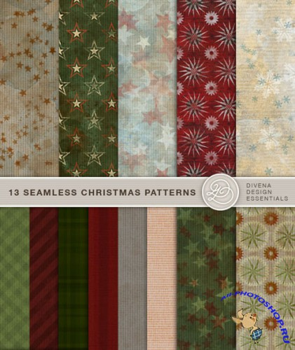 13 Seamless Christmas Patterns for Photoshop